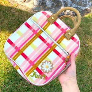Juicy Couture PINK PLAID MAKEUP BAG TRAIN CASE Y2K